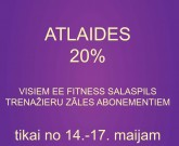ATLAIDES SASALSPILS EE FITNESS