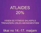 ATLAIDES SASALSPILS EE FITNESS
